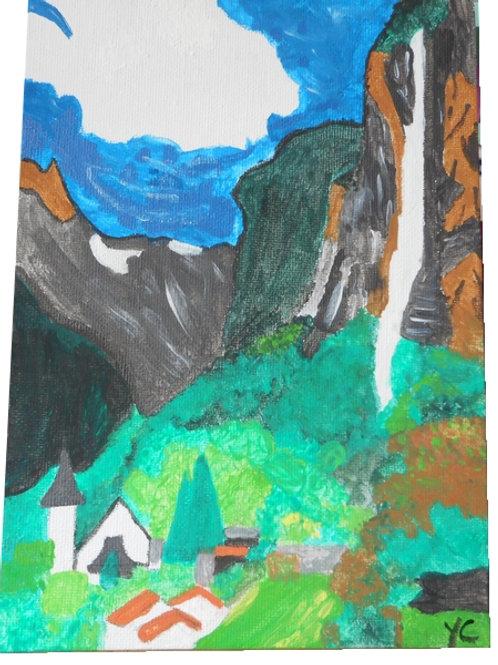 cascade en montagne