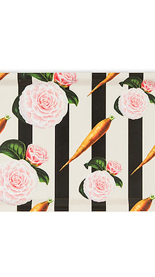 CARROTS AND ROSES BIRCHWOOD TRAY