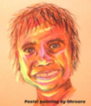Happy Aboriginal Boy pastel painting by
