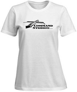 COMMAND STUDIOS Ladies White T-Shirt Cla