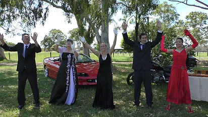 The cast on location in Queensland Australia