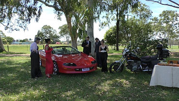 The cast during filming of Australian production music video Sun or Rain by producer Ohroara