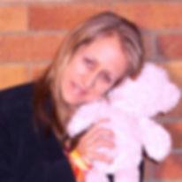 Ohroara Christian pop singer hugs a teddy bear
