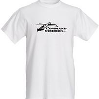 COMMAND STUDIOS Mens Cotton T-Shirt whit