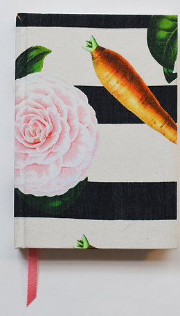 CARROTS & ROSES HORIZONTAL STRIPES SILK NOTEBOOK