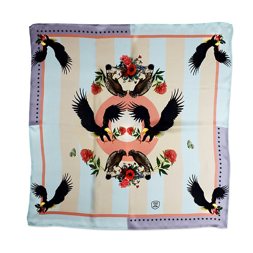 IMPERIAL EAGLES PASTELS SILK SCARF from