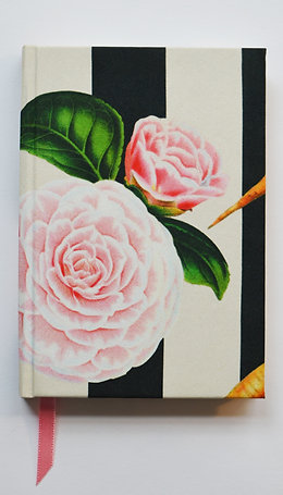 CARROTS & ROSES VERTICAL STRIPES SILK NOTEBOOK