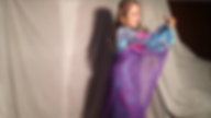 Dancing lady female photo photoshoot white curtain purple outfit