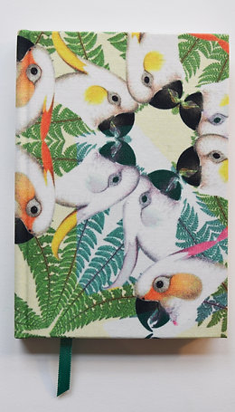 PARROTS GREEN SILK NOTEBOOK