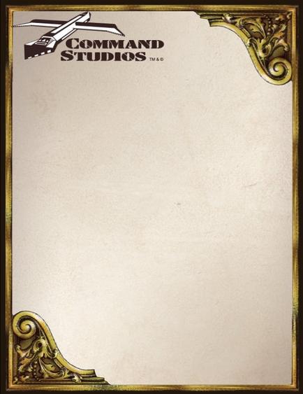 COMMAND STUDIOS Notepad - Classic Vintage Design