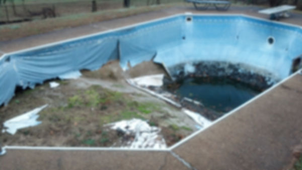 inground pool liner rip and replace roch