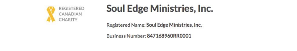 Soul edge registered charity proof