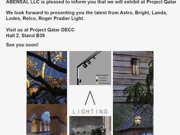 Visit our stand B39 in Hall 2 Project Qatar, DECC                    Doha- QATAR