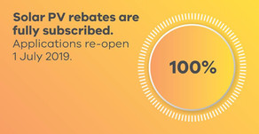 It's official...solar rebates have closed for this financial year.
