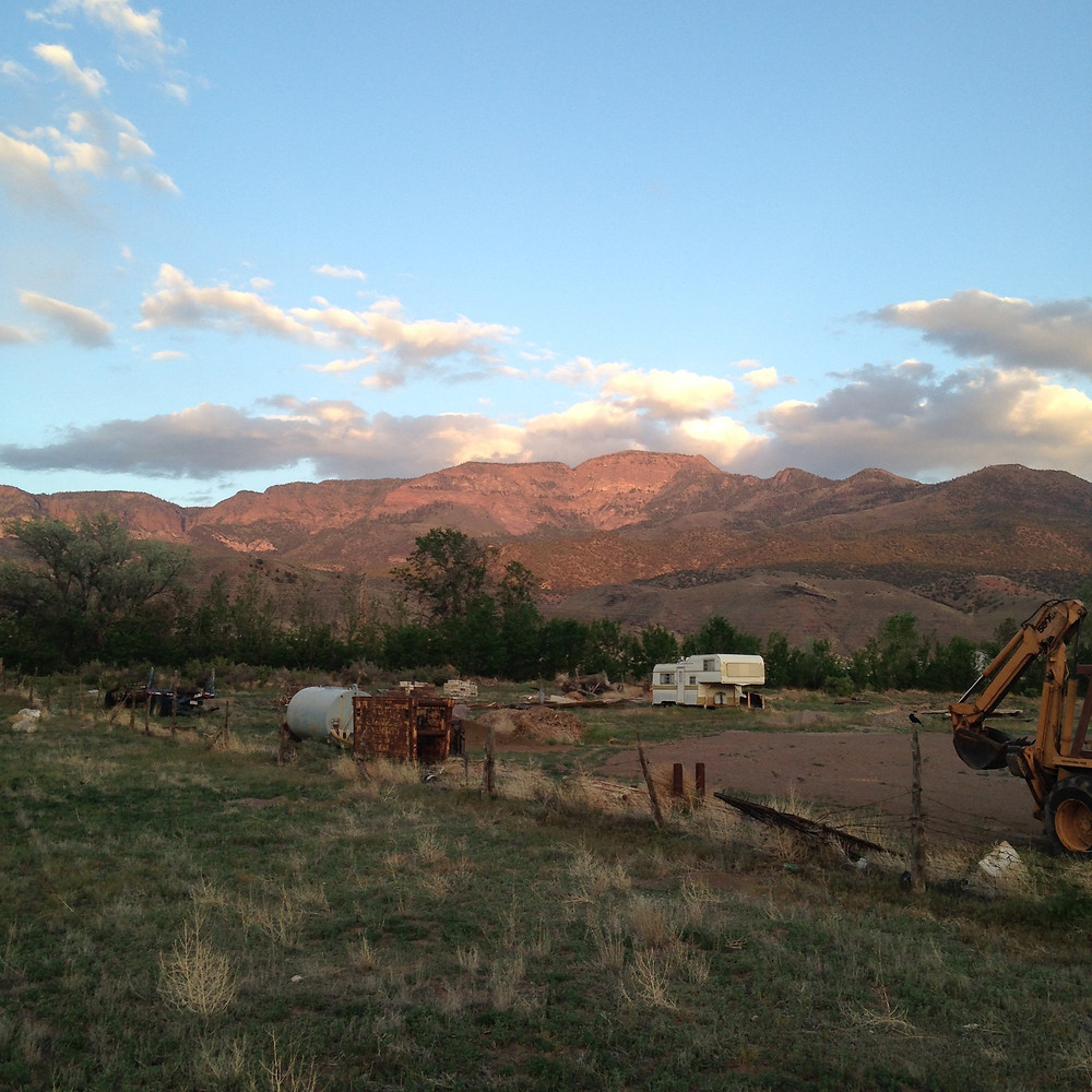 dusk time mountain view in Monroe UT