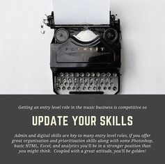 Kick starting your career in the music business : Top Tip no 3 : Update your Admin and Digital skills.