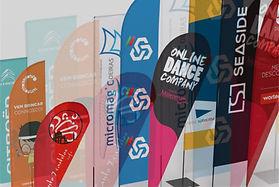 Bandeiras publicitárias personalizadas amovíveis