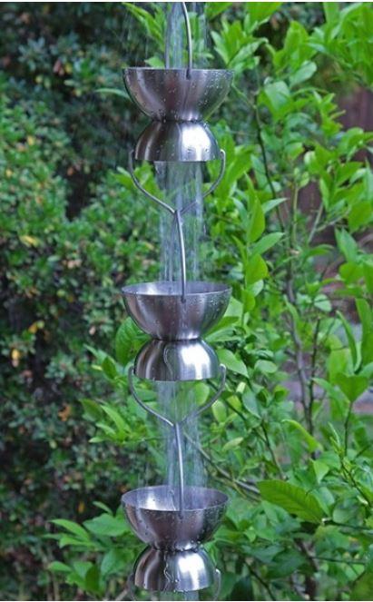 Stainless Steel Rain Chalice Cups-Rain-Chain