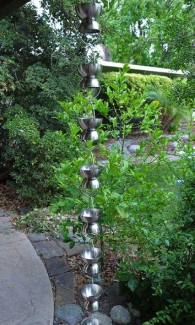 Stainless Steel Rain Chalice Cups-Rain-Chain 1a