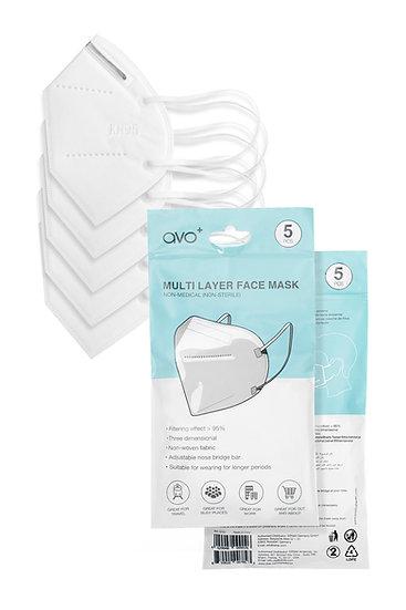 AVO+ Multi Layer Face Mask 10pk