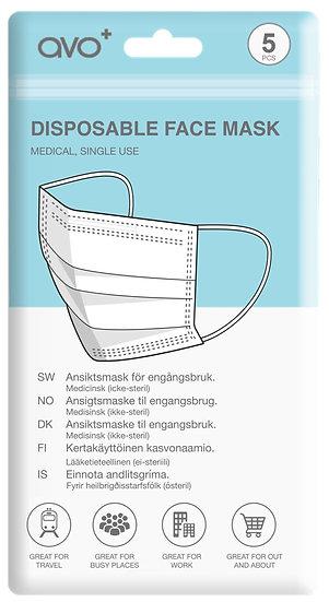 AVO+Disposable Face Mask - Nordics - Medical