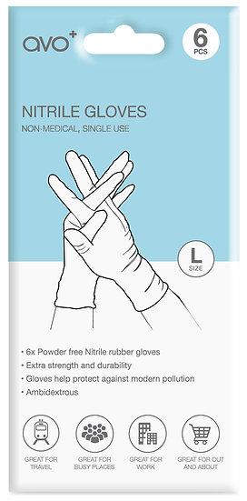 AVO+ Disposable Nitrile Gloves 6 Pack