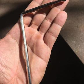 Chave sextavada 5mm extra longa para  o
