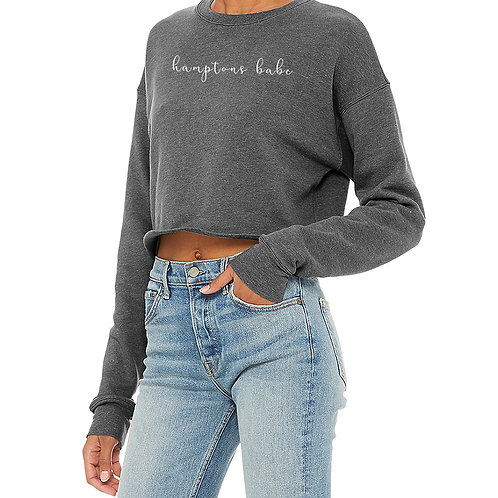 Hamptons Grey Crop Sweater