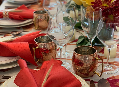 Jill Zarin's Copper Inspired Tropical Thanksgiving Table
