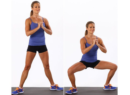 Wide Squat With Calf Raise For Leg Day