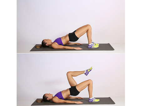 Marching Bridge Exercise For Toned Glutes