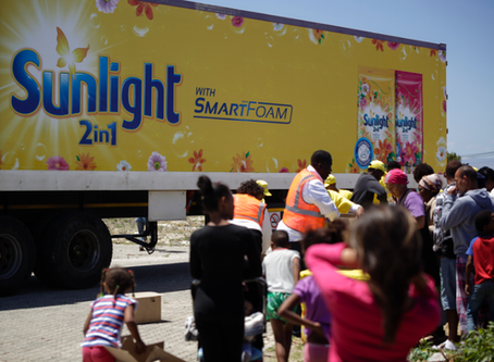 Sunlight Washing Powder brought relief for drought-stricken communities in Cape Town