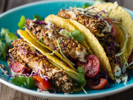 Seed-Crusted Chicken Tacos
