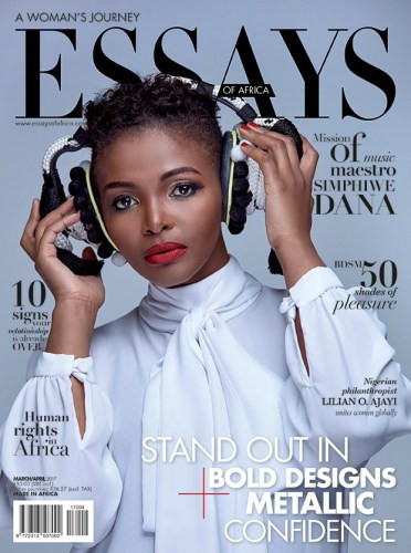 Simphiwe Dana And Her Unique Strong Voice in the EOA magazine