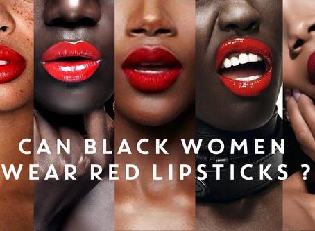 Red Lips And Dark Skin