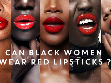 Red Lips And Dark Skin