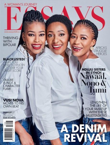 Essays-Of-Africa-Magazine-July-August-2017-The-Mdluli-sisters-in-synch, Tumi Mdluli Mhlongo, Nawaal Mdluli Motlekar, Nozipho Mdluli