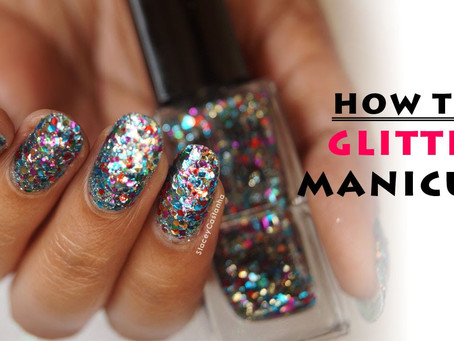 How To Glitter Your Nails Perfectly