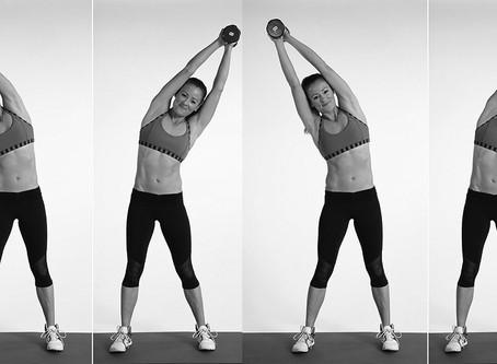 Overhead Dumbbell Side Bend Exercise