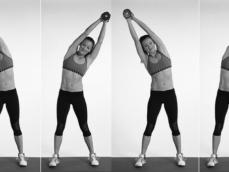 Overhead Dumbbell Side Bend Exercise