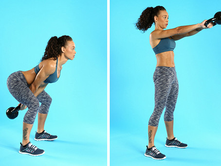 Kettlebell Squat And Swing Exercise