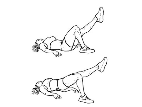 Single-Leg Bridge Kicks For A Tight Derrière