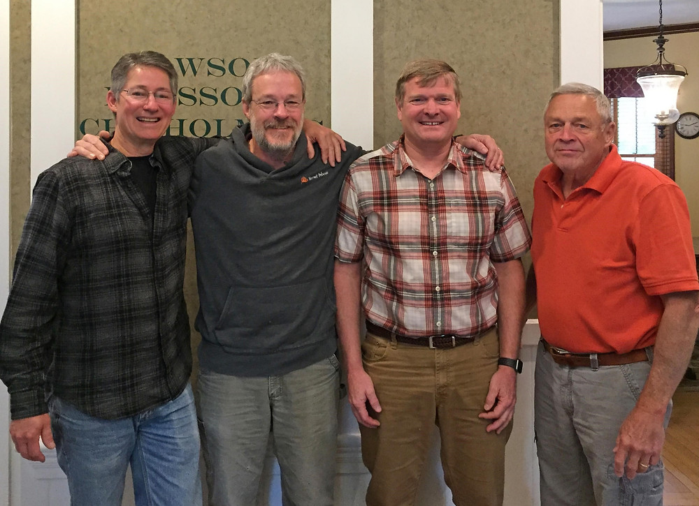 Hermit Woods Owners (L to R): Ken Hardcastle, Bob Manley, Charles Lawrence, Ken Wilson (Belknap EDC Loan Officer)