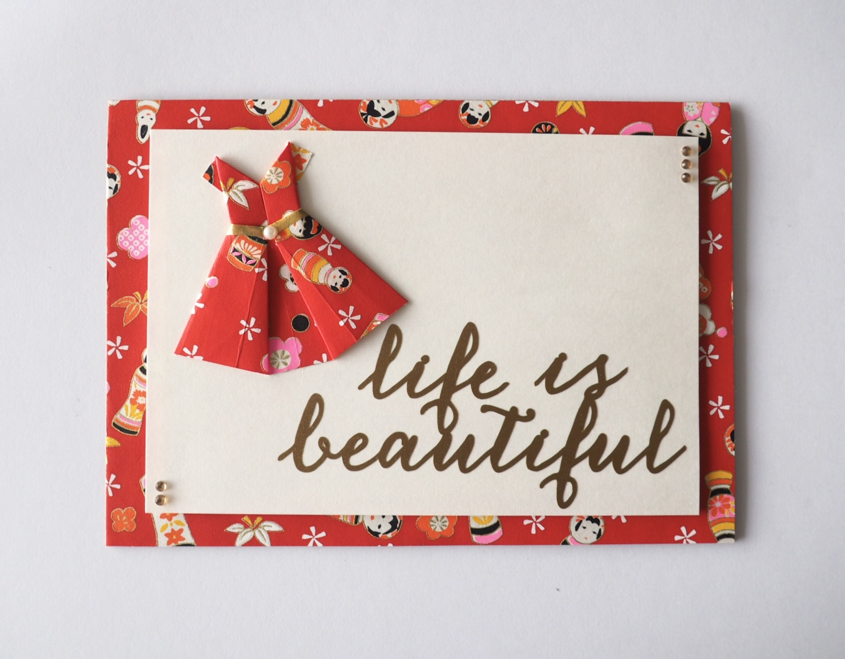 5x7 card - Life is Beautiful