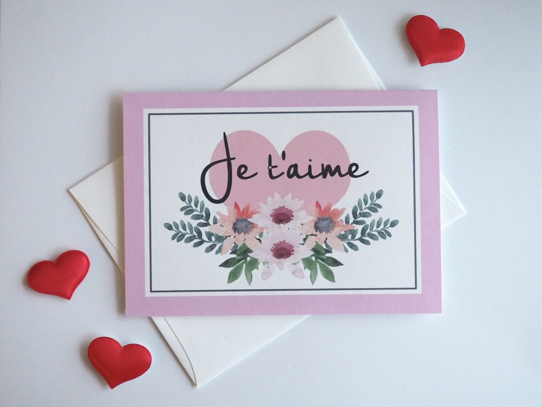 Love card - Je t'aime