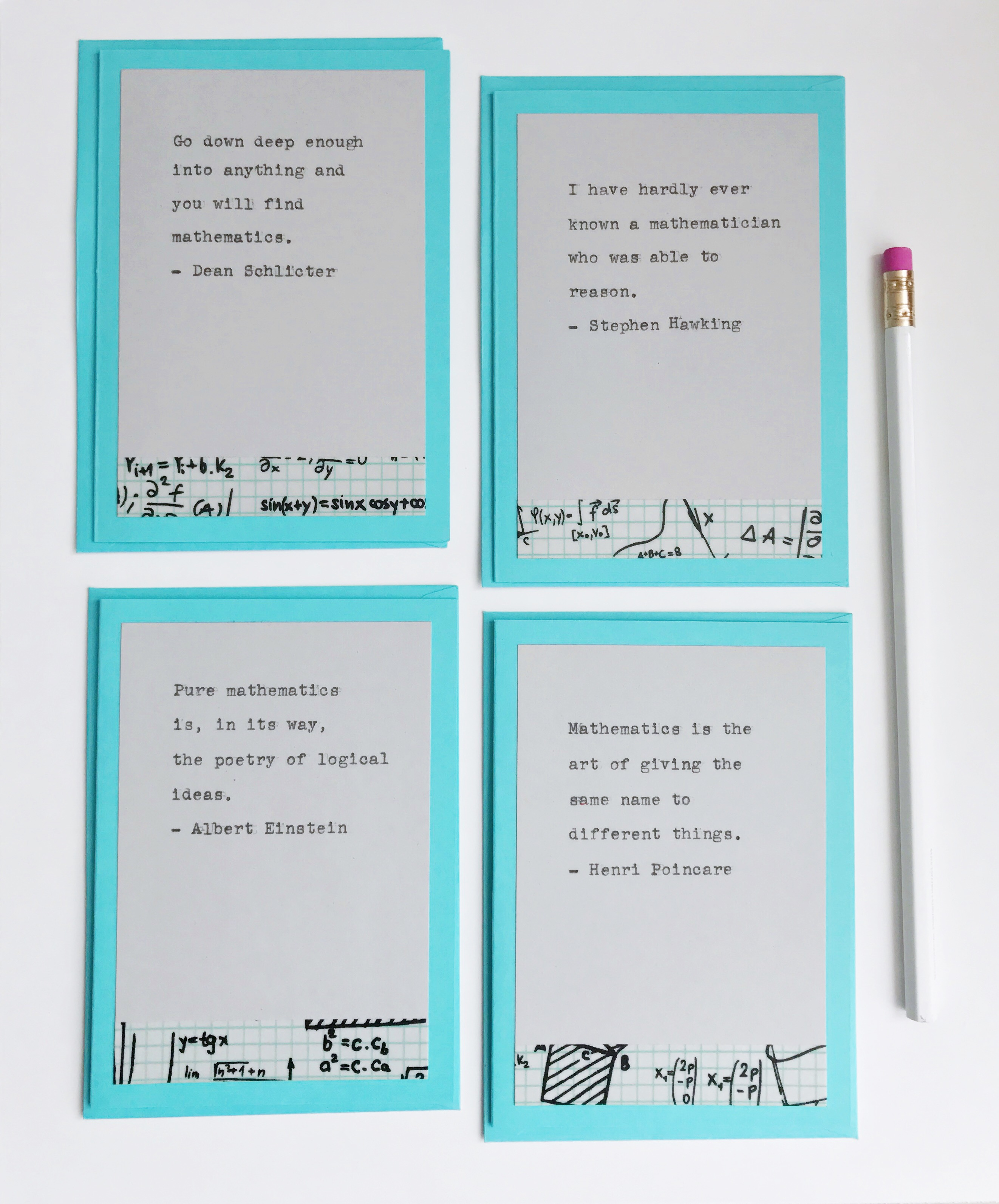 Inspirational notecard set - Math