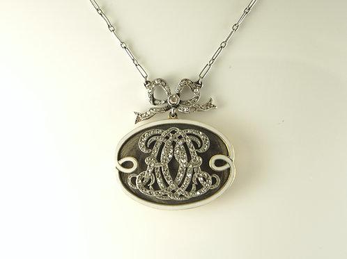 Diamond Mourning Necklace