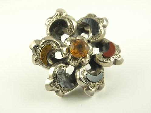 Scottish Pebble Brooch