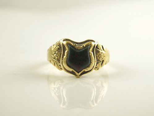 Gold Blood Stone Ring