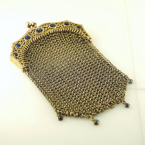 Gold and Sapphire Money Bag